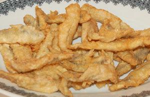 Ristorante Piperno, i secondi di pesce, frittura di alici